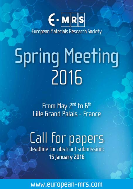 EMRS Spring meeting 2016