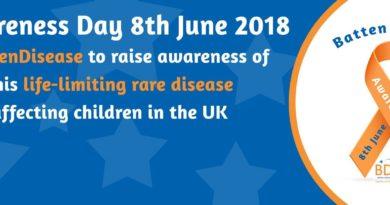 Batten Disease Awareness Day: 8th June 2018