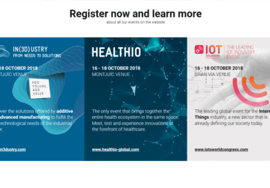 Meet us at the 2018 Barcelona Industry Week – HEALTHIO, IOT and IN(3D)USTRY