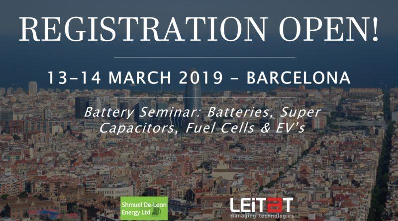 Battery Seminar: Registration Open!