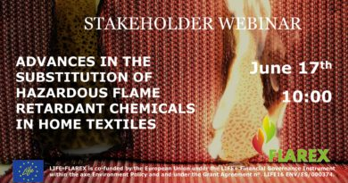 Stakeholder Webinar: Advances in the Substitution of Hazardous Flame Retardants in Textile