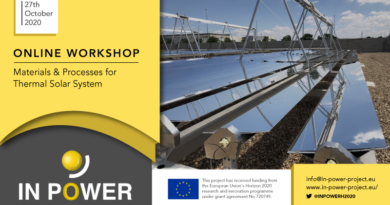 Online Dissemination Event: Materials & Processes for Thermal Solar Systems